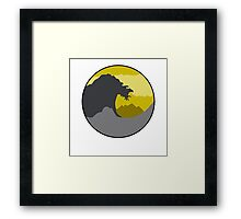 The Great Wave - Dark Yellow Framed Print