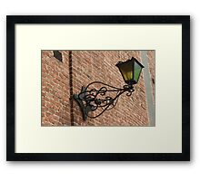 old lamp on the wall Framed Print