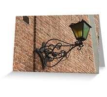 old lamp on the wall Greeting Card