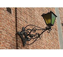 old lamp on the wall Photographic Print