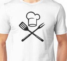BBQ cooking chefs hat Unisex T-Shirt