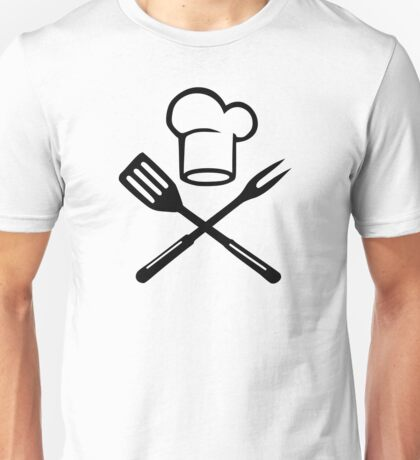 BBQ cooking chefs hat Unisex T-Shirt