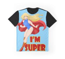 Woman Super Hero Flying With Cape Graphic T-Shirt