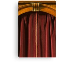 old confessional Canvas Print