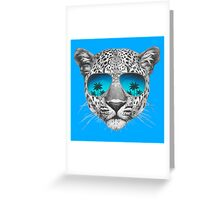 Leopard with sunglasses Greeting Card