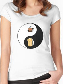 Coffee vs. Beer Women's Fitted Scoop T-Shirt