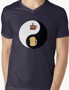 Coffee vs. Beer Mens V-Neck T-Shirt