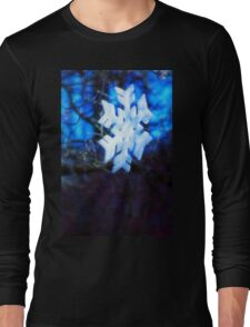 snowflake in blue 2 Long Sleeve T-Shirt