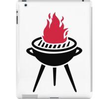 BBQ red fire flame iPad Case/Skin