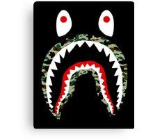 Camo Shark Canvas Print