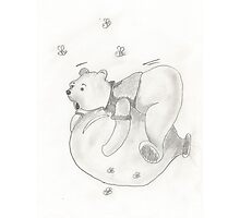 Balloon Pooh Bear Photographic Print