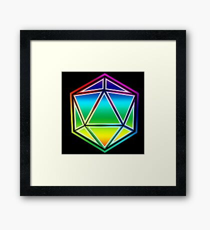 Dungeons and Dragons Pride Dice Framed Print