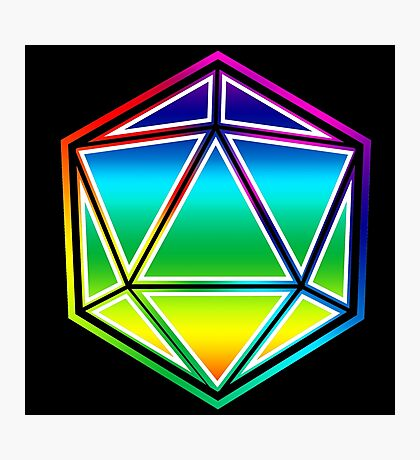 Dungeons and Dragons Pride Dice Photographic Print