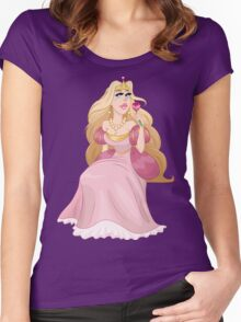 Blond Princess Smells A Rose Women's Fitted Scoop T-Shirt