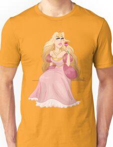 Blond Princess Smells A Rose Unisex T-Shirt