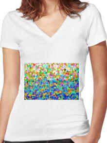 Colours of Zanzibar Women's Fitted V-Neck T-Shirt