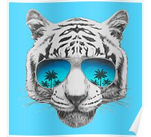 Tiger with sunglasses Poster