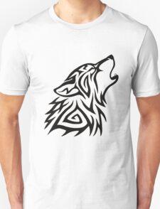 Tribal Wolf Howl Unisex T-Shirt