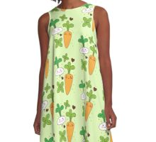 cute kawaii carrot and turnip A-Line Dress