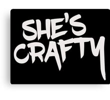 She's Crafty Canvas Print