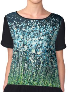 Night Flowers Chiffon Top