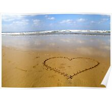 Love on the beach Poster