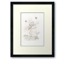 Winnie the Pooh - leaves Framed Print