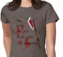 Badass Schoolgirl Womens Fitted T-Shirt