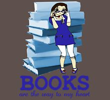 Books Are Love - Sticker Edition Womens Fitted T-Shirt