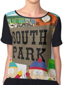 South Park Characters Chiffon Top