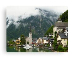 Village Hallstatt, Upper Austria Canvas Print
