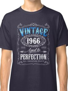50th birthday gift for men Vintage 1966 aged to perfection 50 birthday Classic T-Shirt
