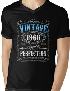 50th birthday gift for men Vintage 1966 aged to perfection 50 birthday Mens V-Neck T-Shirt