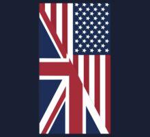 American and Union Jack Flag Kids Tee