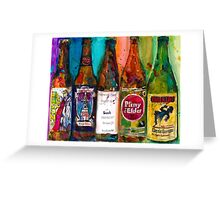Zombie Dust, Dead Man Ale, Lunch, PlinytheEdler, Centillion Combo Fancy Beer Man Cave Greeting Card