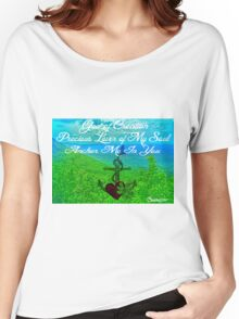 Photo and Haiku About The God of Creation Women's Relaxed Fit T-Shirt