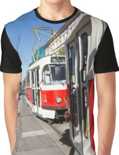 Trams in Prague Graphic T-Shirt