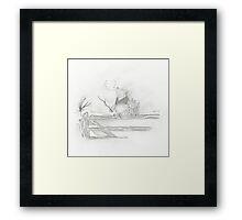 Pooh and Piglet Framed Print