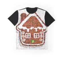 Gingerbread House Christmas Mosaic Graphic T-Shirt