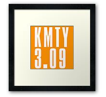 KMTY - White Framed Print