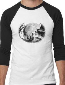 Think Deathly Hallows Moon Men's Baseball ¾ T-Shirt