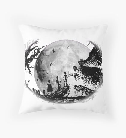 Think Deathly Hallows Moon Throw Pillow