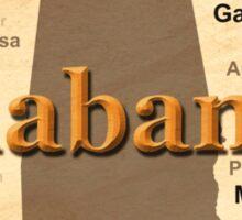 Aged Alabama State Pride Map Silhouette  Sticker