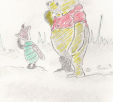 Pooh bear and Piglet Sticker