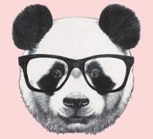 Panda with glasses Kids Tee