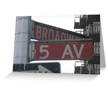 5th & Broadway Greeting Card