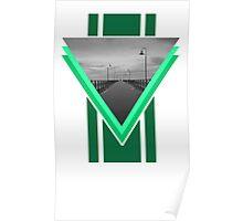 Italian Walkway (Green & Grey) Poster