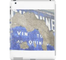French painted advertising sign iPad Case/Skin