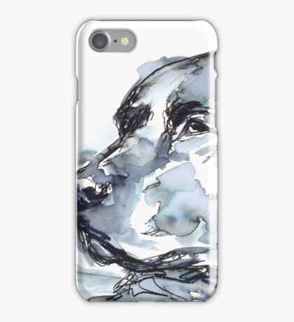 Labrador Retriever, Watercolor Portrait Sketch iPhone Case/Skin