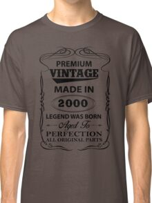 Premium Vintage 2000 Aged To Perfection Classic T-Shirt